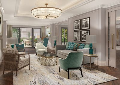 Mulberry Court interior, classic contemporary styling