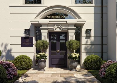 Mulberry Court main entrance, an impressive welcome