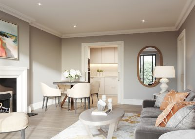 Mulberry Court apartments, flexible, open plan space and elegant detailing