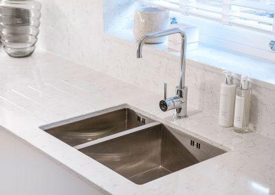 Mulberry Court show flat, kitchen sink